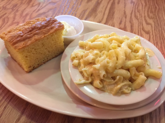 Cornbread and Mac & Cheese
